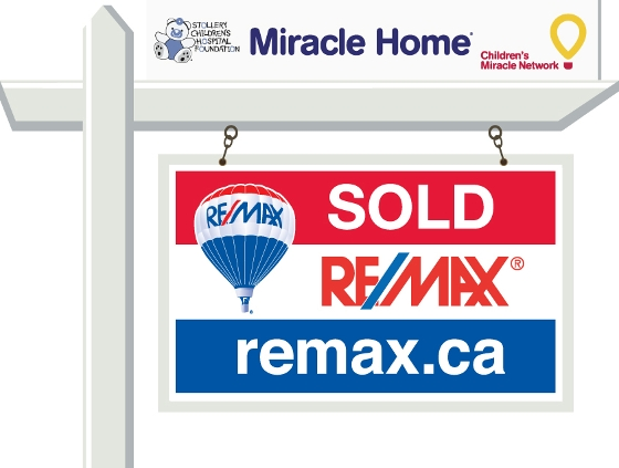 RE/MAX for sale sign, Miracle Homes, Stollery Children's Hospital, Edmonton Realtor, Edmonton buy and sell homes